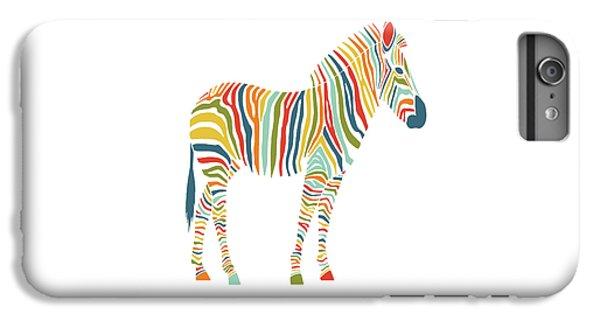 Rainbow Zebra IPhone 7 Plus Case by Nicole Wilson