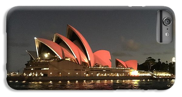 Red Sydney Opera House IPhone 7 Plus Case by Sandy Taylor