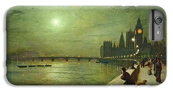 Reflections On The Thames IPhone 7 Plus Case by John Atkinson Grimshaw