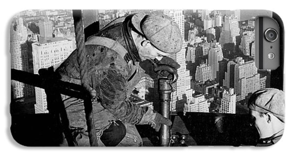 Riveters On The Empire State Building IPhone 7 Plus Case by LW Hine