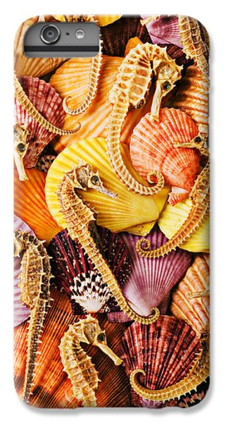 Sea Horses And Sea Shells IPhone 7 Plus Case by Garry Gay