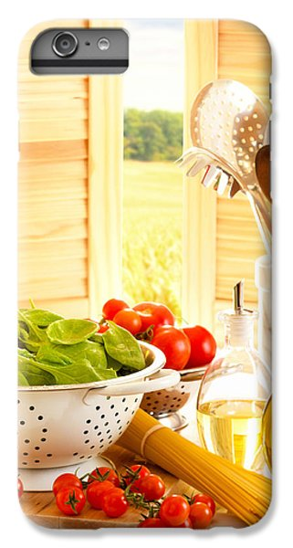 Spaghetti And Tomatoes In Country Kitchen IPhone 7 Plus Case by Amanda Elwell
