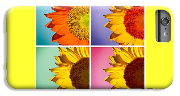 Sunflowers Collage IPhone 7 Plus Case by Mark Ashkenazi