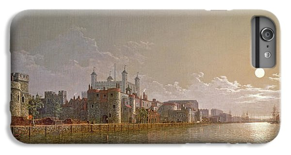 The Thames By Moonlight With Traitors' Gate And The Tower Of London IPhone 7 Plus Case by Henry Pether
