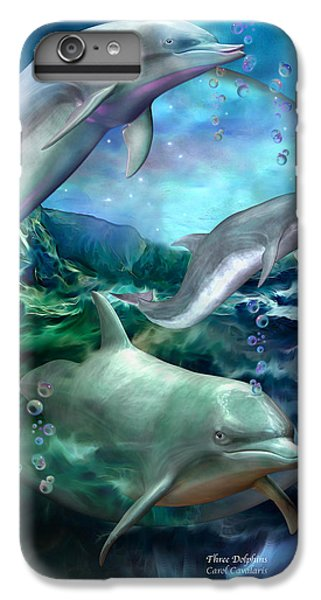 Three Dolphins IPhone 7 Plus Case by Carol Cavalaris