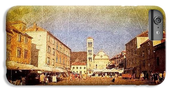 Town Square #edit - #hvar, #croatia IPhone 7 Plus Case by Alan Khalfin