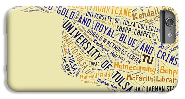 Tu Word Art University Of Tulsa IPhone 7 Plus Case by Roberta Peake