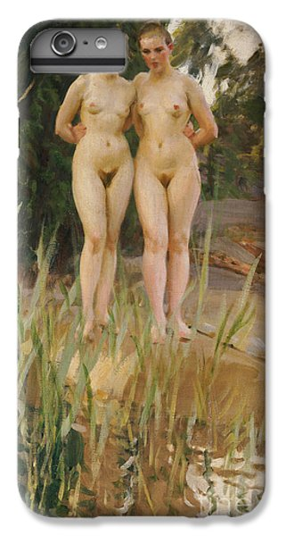 Two Friends  IPhone 7 Plus Case by Anders Leonard Zorn