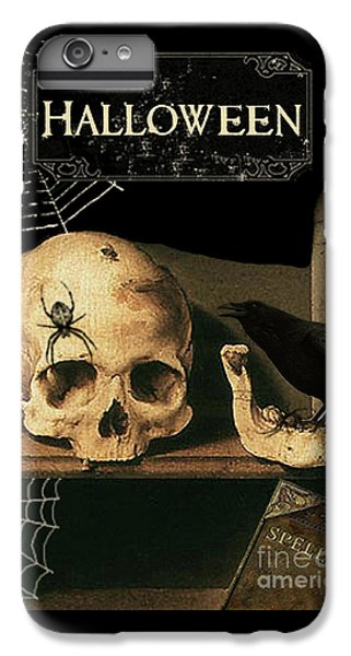 Vanitas Skull And Raven IPhone 7 Plus Case by Striped Stockings Studio