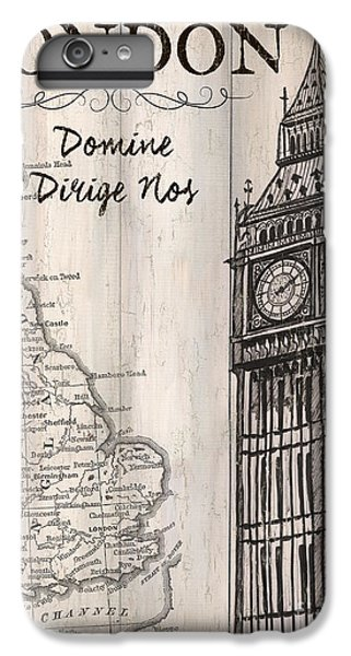 Vintage Travel Poster London IPhone 7 Plus Case by Debbie DeWitt