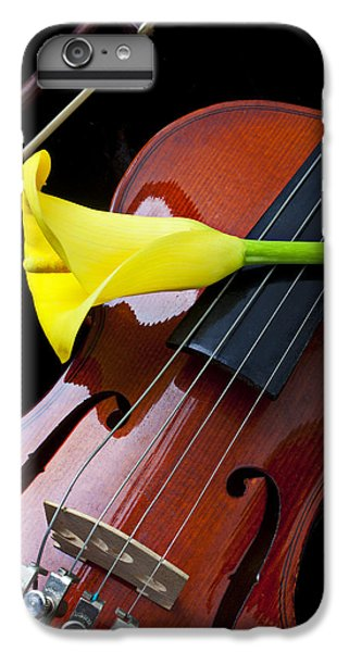 Violin With Yellow Calla Lily IPhone 7 Plus Case by Garry Gay