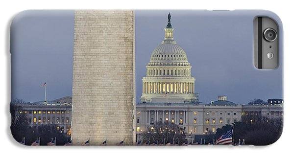 Washington Monument And United States Capitol Buildings - Washington Dc IPhone 7 Plus Case by Brendan Reals
