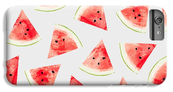 Watercolor Watermelon Pattern IPhone 7 Plus Case by Uma Gokhale