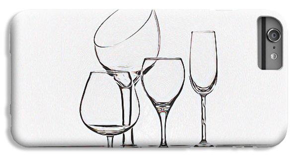Wineglass Graphic IPhone 7 Plus Case by Tom Mc Nemar