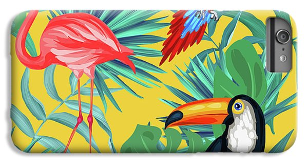 Yellow Tropic  IPhone 7 Plus Case by Mark Ashkenazi