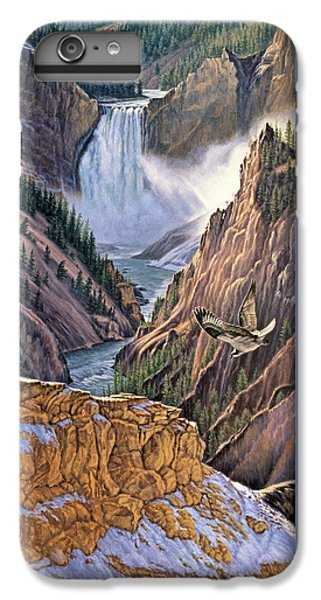 Yellowstone Canyon-osprey IPhone 7 Plus Case by Paul Krapf