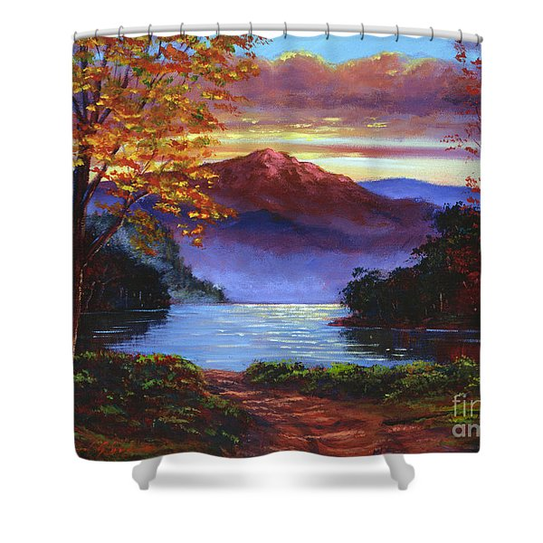 A Moment Of Softness Shower Curtain by David Lloyd Glover