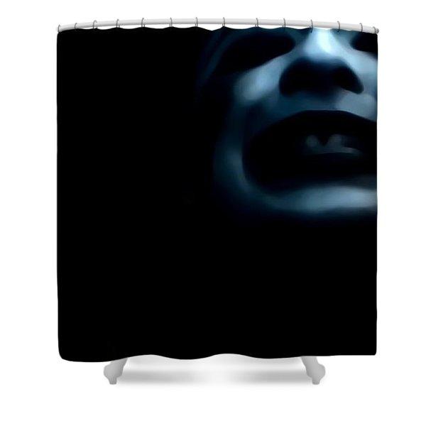 Agony I Wait Shower Curtain by Jessica Shelton