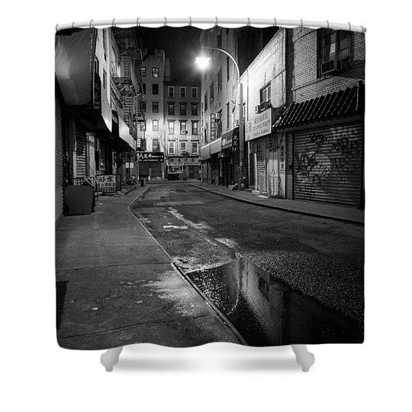 Chinatown New York City - Doyers Street Shower Curtain by Gary Heller