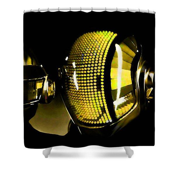Daft Punk  Shower Curtain by Marvin Blaine