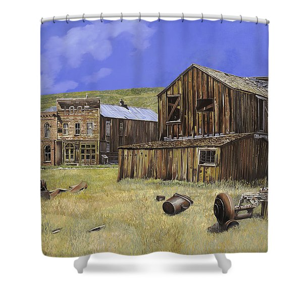 ghost town of Bodie-California Shower Curtain by Guido Borelli