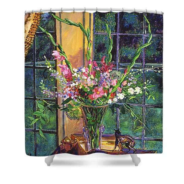 GLADIOLA ARRANGEMENT Shower Curtain by David Lloyd Glover