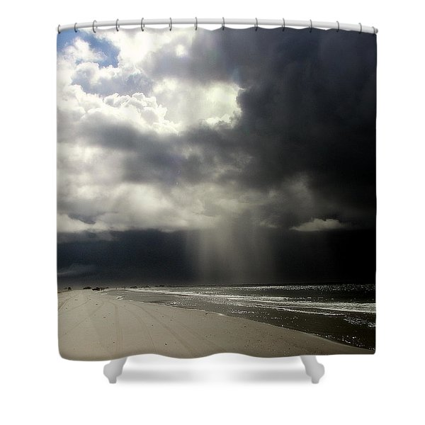 Hurricane Glimpse Shower Curtain by Karen Wiles