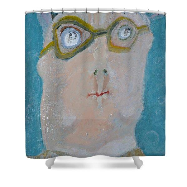 John's Dad Seeing Babies Born Shower Curtain by Nancy Mauerman