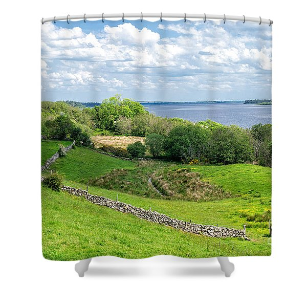 Loch Coirib Shower Curtain by Juergen Klust