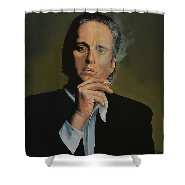 Michael Douglas Shower Curtain by Paul  Meijering