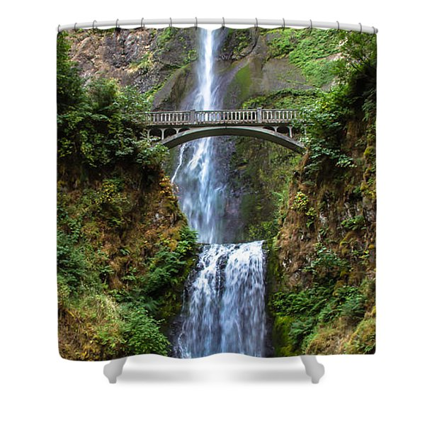 Multnomah Falls Shower Curtain by Robert Bales