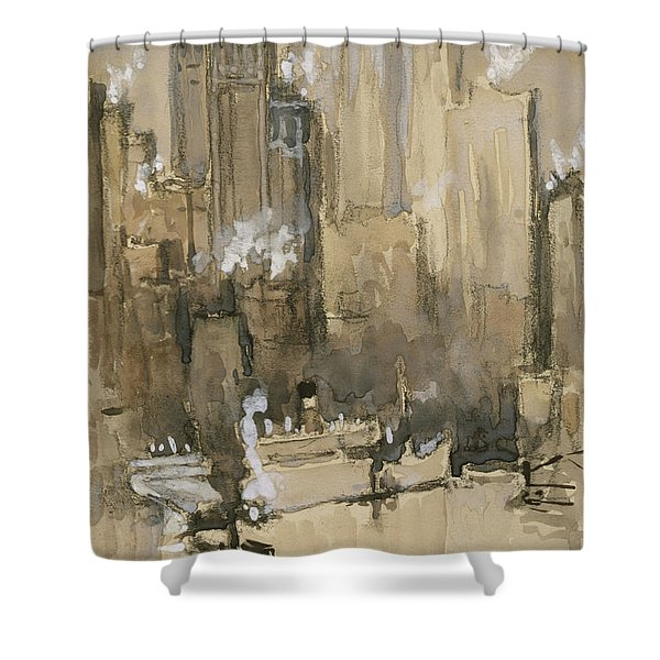 New York From Our Brooklyn Flat Circa 1921 Shower Curtain by Aged Pixel