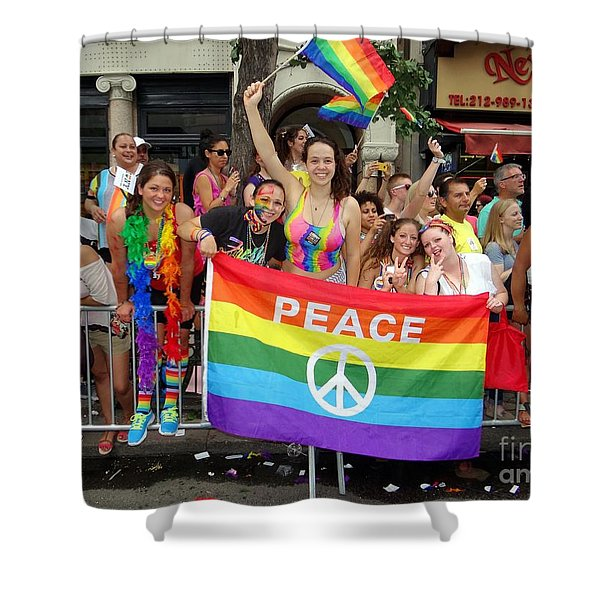 Peace And Pride Shower Curtain by Ed Weidman