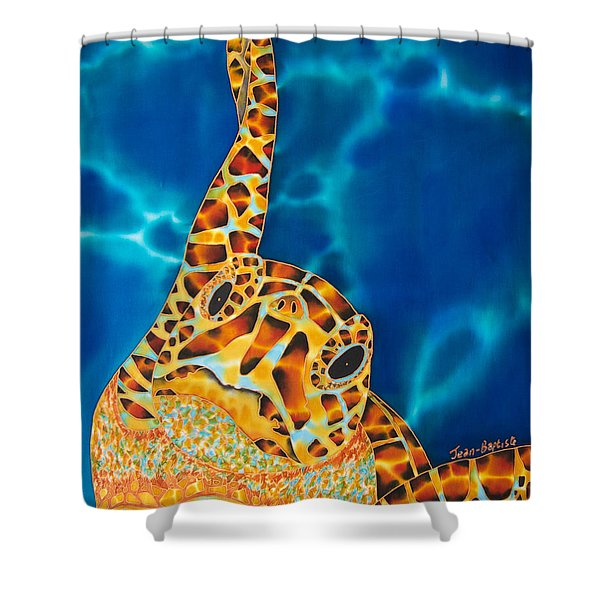Sea Turtle Shower Curtain by Daniel Jean-Baptiste