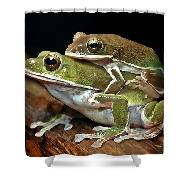 Tree Frog Shower Curtain by Lanjee Chee