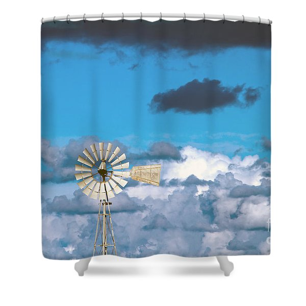 water windmill Shower Curtain by Stylianos Kleanthous