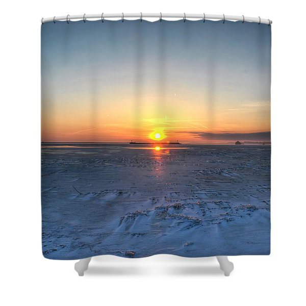 0012 EVEN ON OUR COLDEST DAYS WE STILL GET BLESSED WITH GORGEOUS RAYS Series Shower Curtain by Michael Frank Jr