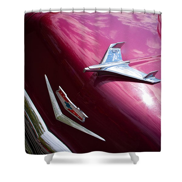 1956 Chevy Bel Air Shower Curtain by David Patterson