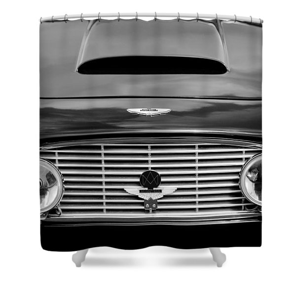 1963 Aston Martin DB4 Series V Vantage GT Grille Shower Curtain by Jill Reger