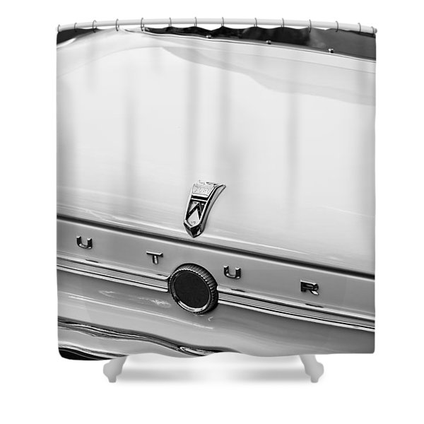 1963 Ford Falcon Futura Convertible  Rear Emblem Shower Curtain by Jill Reger