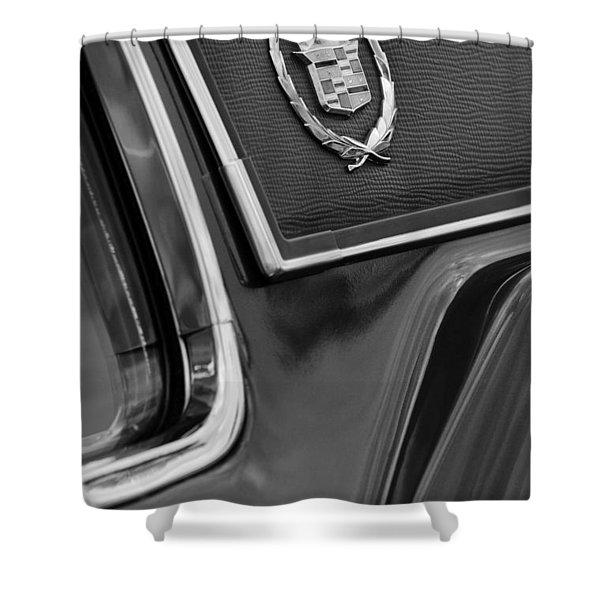 1969 Cadillac Eldorado Emblem Shower Curtain by Jill Reger
