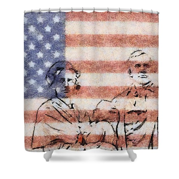 American Patriots Shower Curtain by Dan Sproul