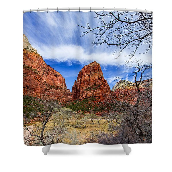 Angels Landing Shower Curtain by Chad Dutson