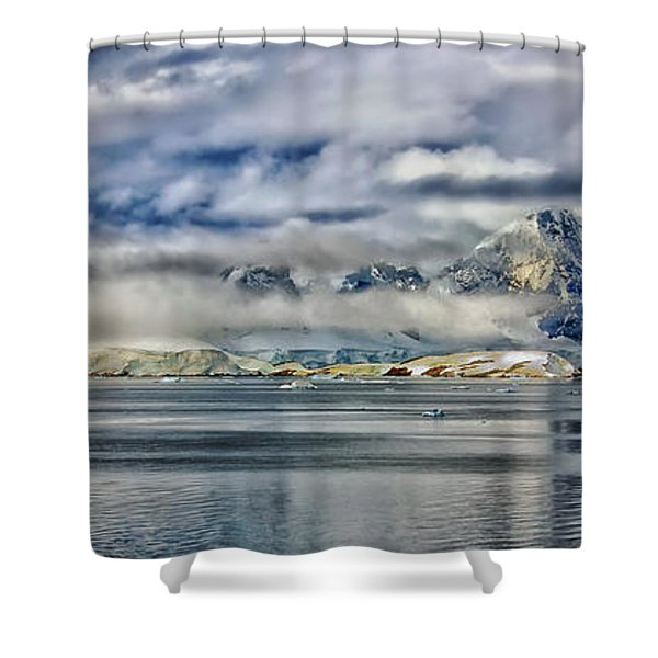 Antarctica Panorama Shower Curtain by Mountain Dreams