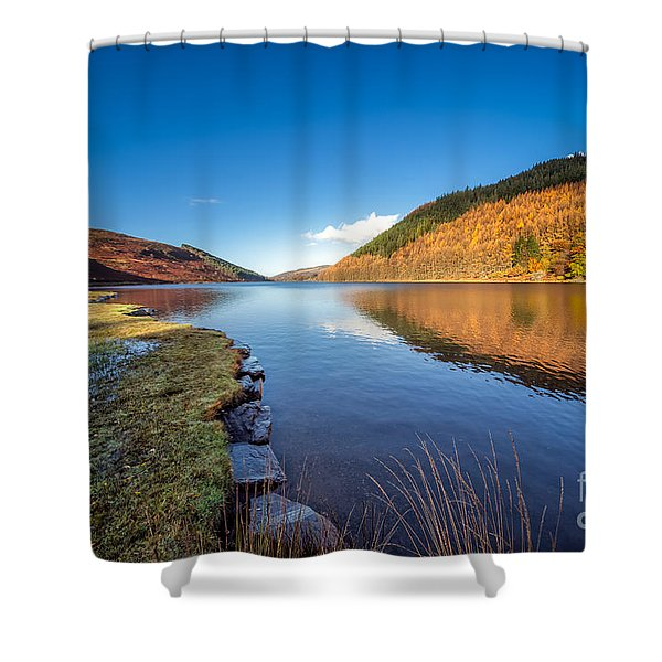 Autumn Reflections Shower Curtain by Adrian Evans