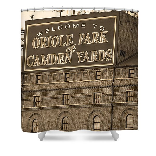 Baltimore Orioles Park at Camden Yards Shower Curtain by Frank Romeo