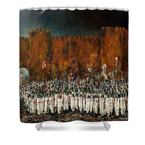 Before Battle Shower Curtain by Kaye Miller-Dewing