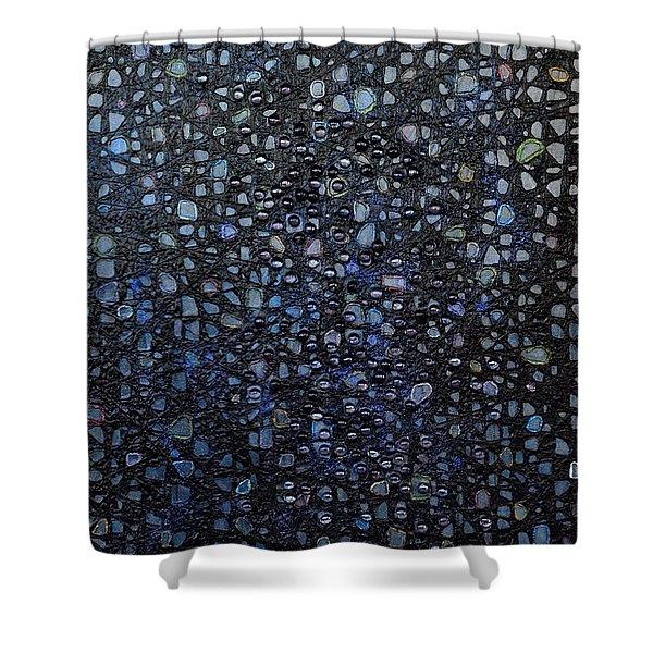 Black Rain Shower Curtain by Donna Blackhall
