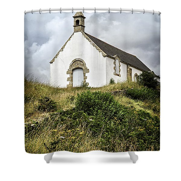 Breton church Shower Curtain by Elena Elisseeva