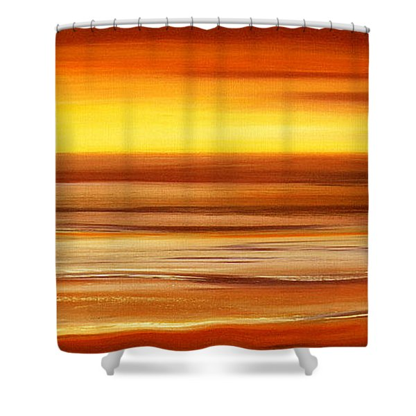Shower Curtains - Brushed 3 Shower Curtain by Gina De Gorna